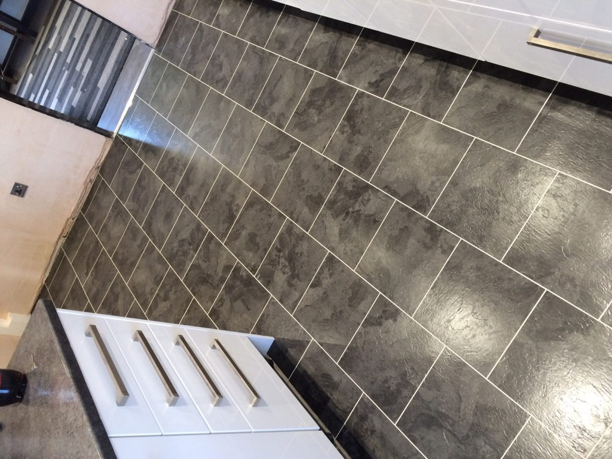 Karndean flooring in kitchen in Leamington